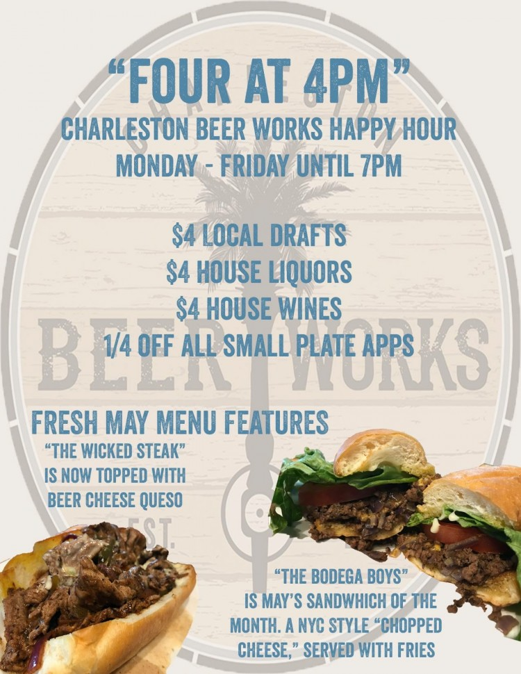 Charleston Beer Works Happy Hour